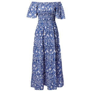Pink City Prints Rah-rah Dress Spanish in Indigo Jungle