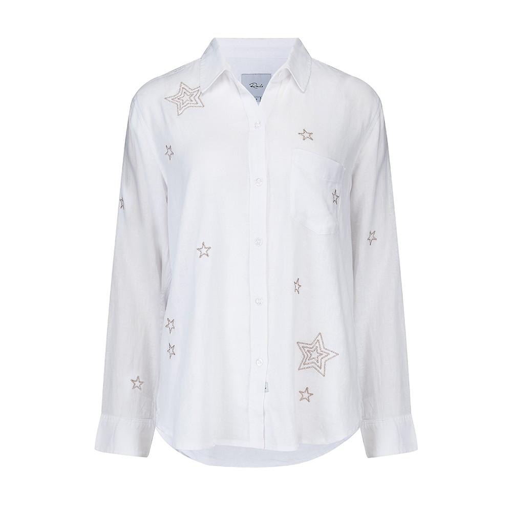 Rails Charli Metallic Stars in White White