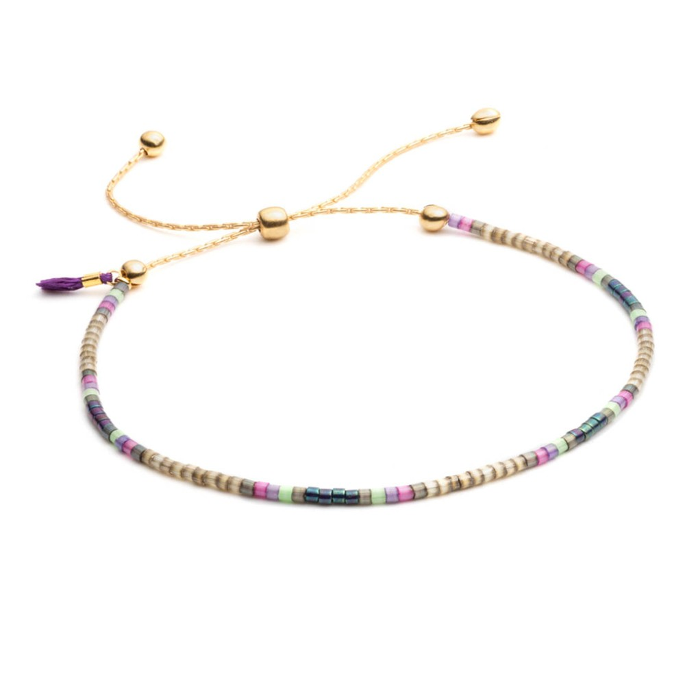 Shashi Sam Chain Bracelet Purple