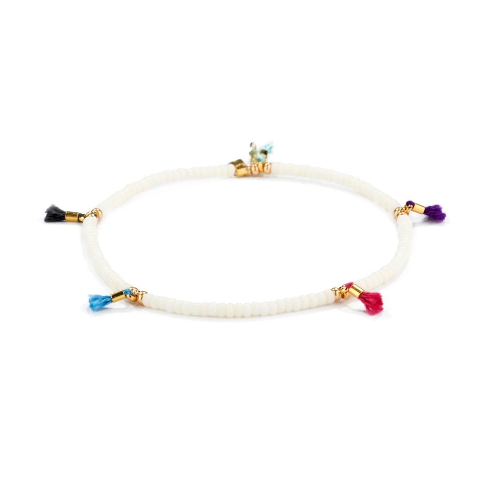Shashi Lilu Bracelet in Bone Off-White
