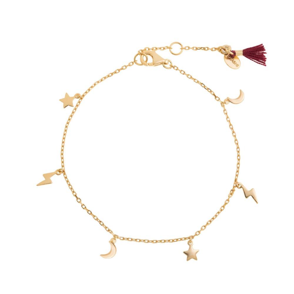 Shashi Petite Lightening Charm Bracelet Gold