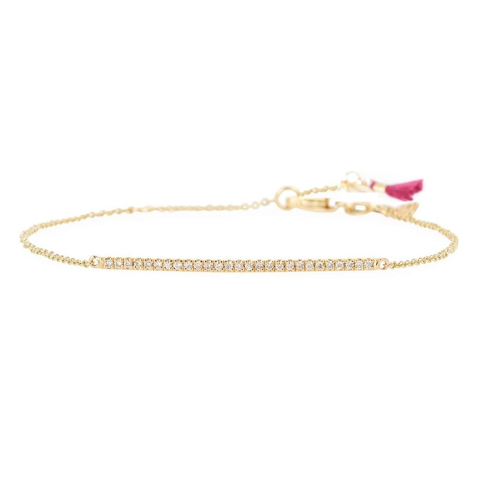 Shashi Bar Pave Bracelet in Gold Gold
