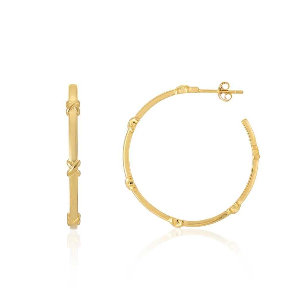 Auree Deia Gold Vermeil Kiss Hoop Earrings Gold
