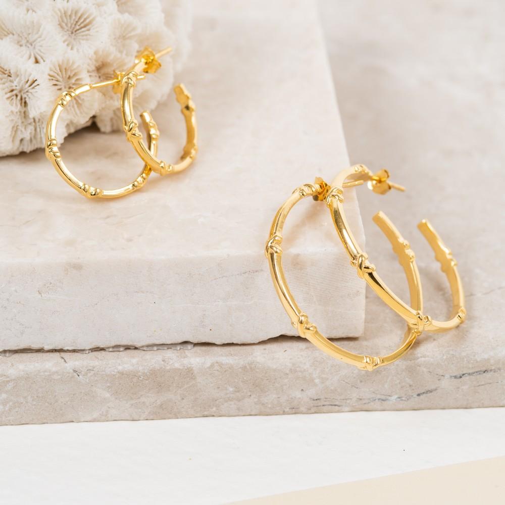 Auree Deia Large Gold Vermeil Kiss Hoop Earrings Gold