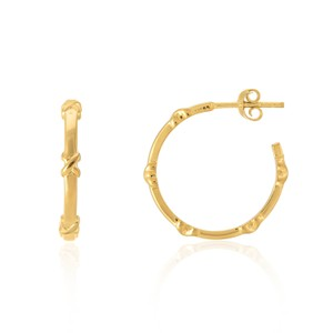 Auree Deia Small Gold Vermeil Kiss Hoop Earrings