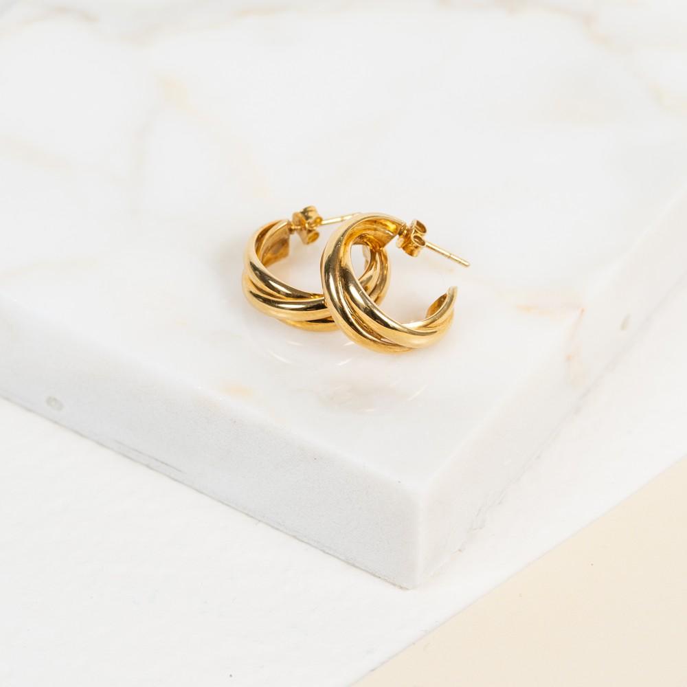 Auree Knightsbridge Yellow Gold Earrings Gold