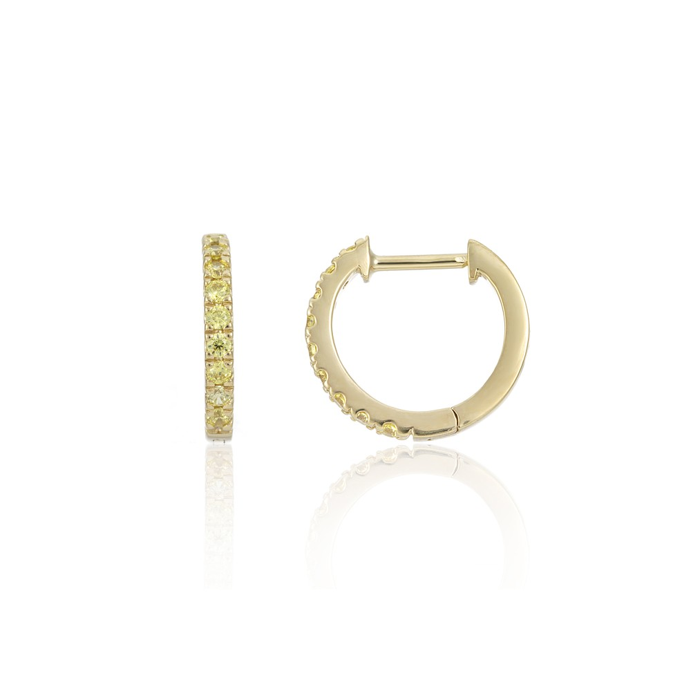 Auree Dovehouse Gold Vermeil & Yellow Zirconia Hoop Earrings Yellow