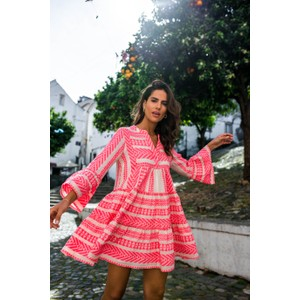 Devotion Ella Short Neon Dress in Pink