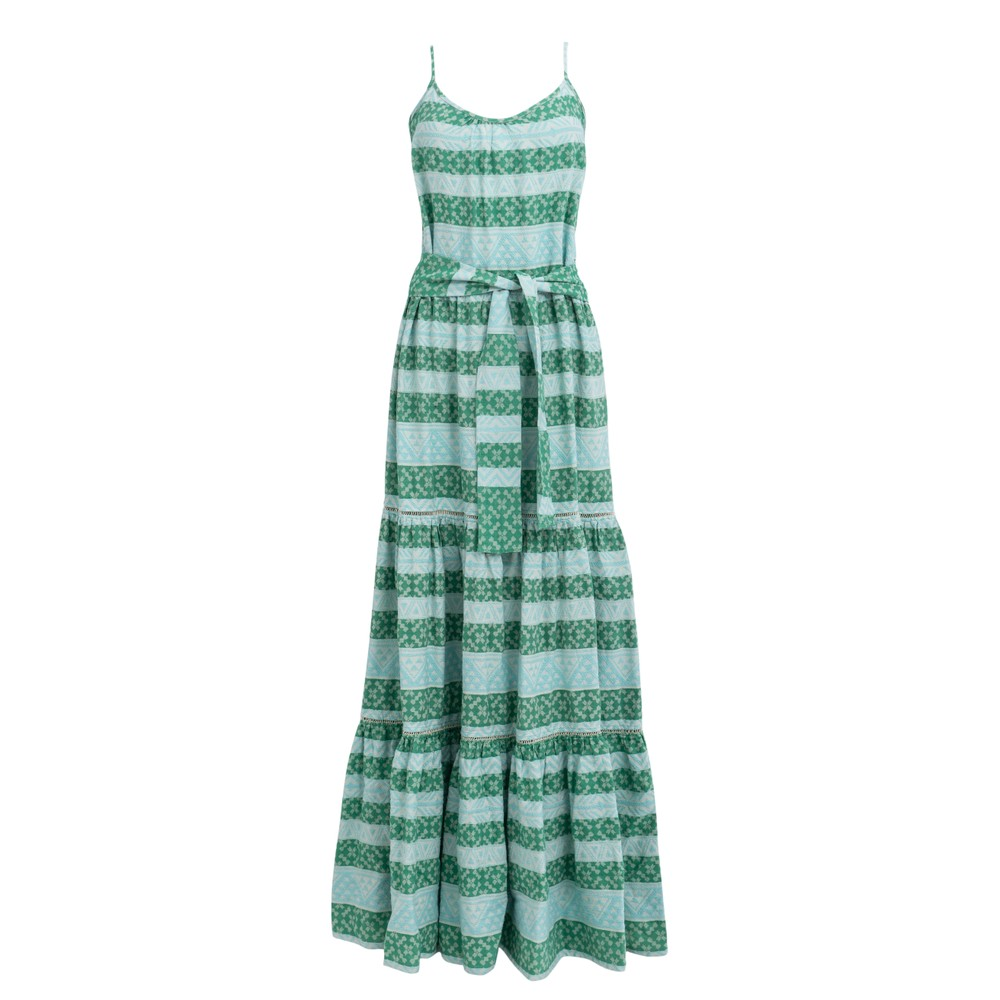 Devotion Zakar Chara Long Dress in Mint Green