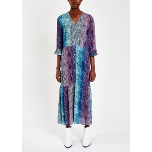 Pyrus Adele Printed Tiered Dress in Python