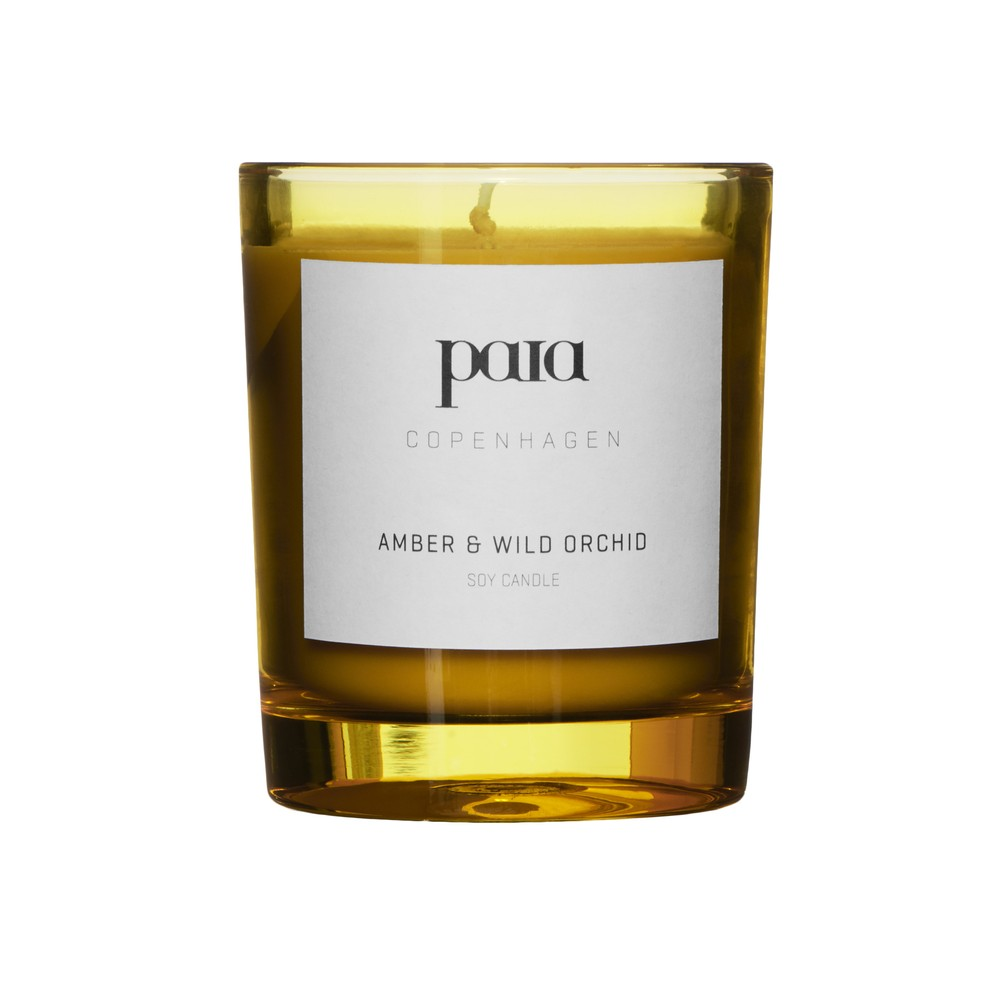 Paia Copenhagen  Amber & Wild Orchid Candle Yellow