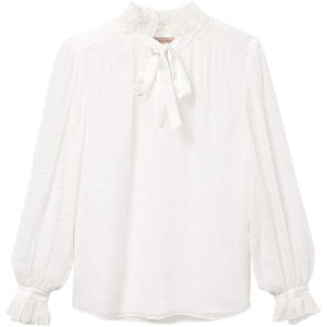 Rebecca Taylor Long Sleeved Satin Dot Blouse
