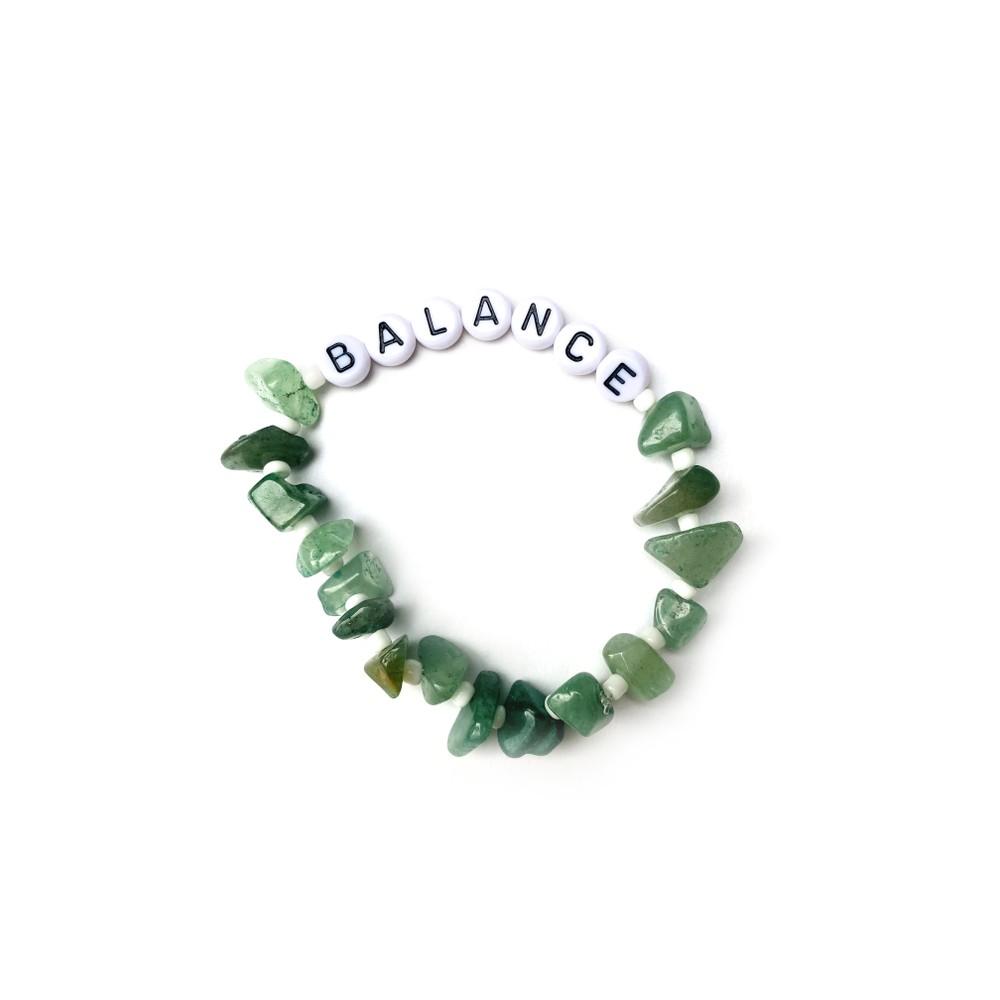 TBalance Balance Crystal Healing Bracelet Green