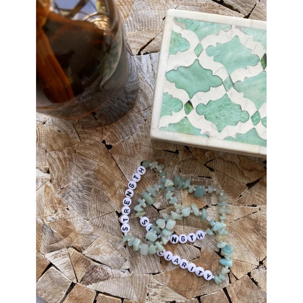 TBalance Clarity Crystal Healing Bracelet Green