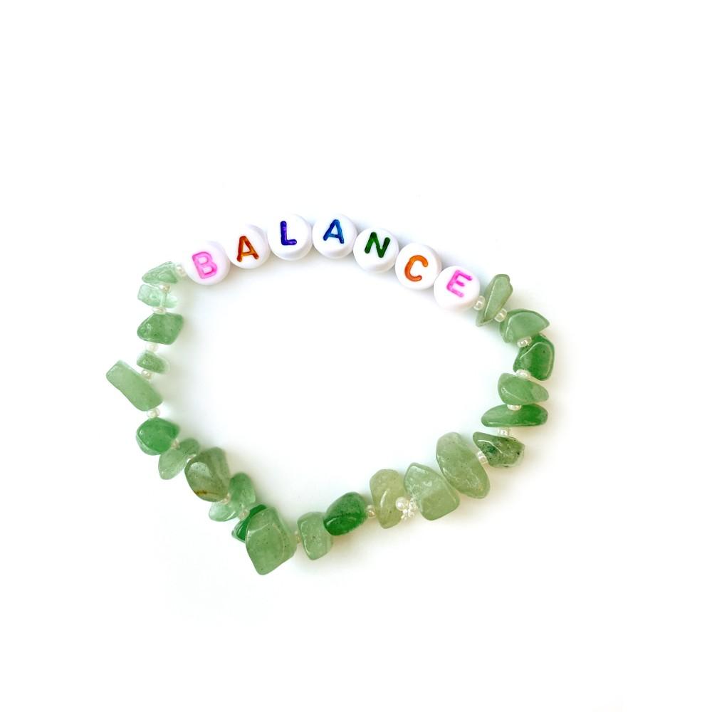 TBalance Balance Multi, Crystal Healing Bracelet Green
