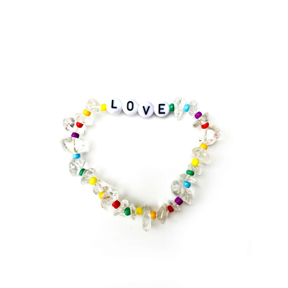 TBalance Love Rainbow, Crystal Healing Bracelet Multicoloured