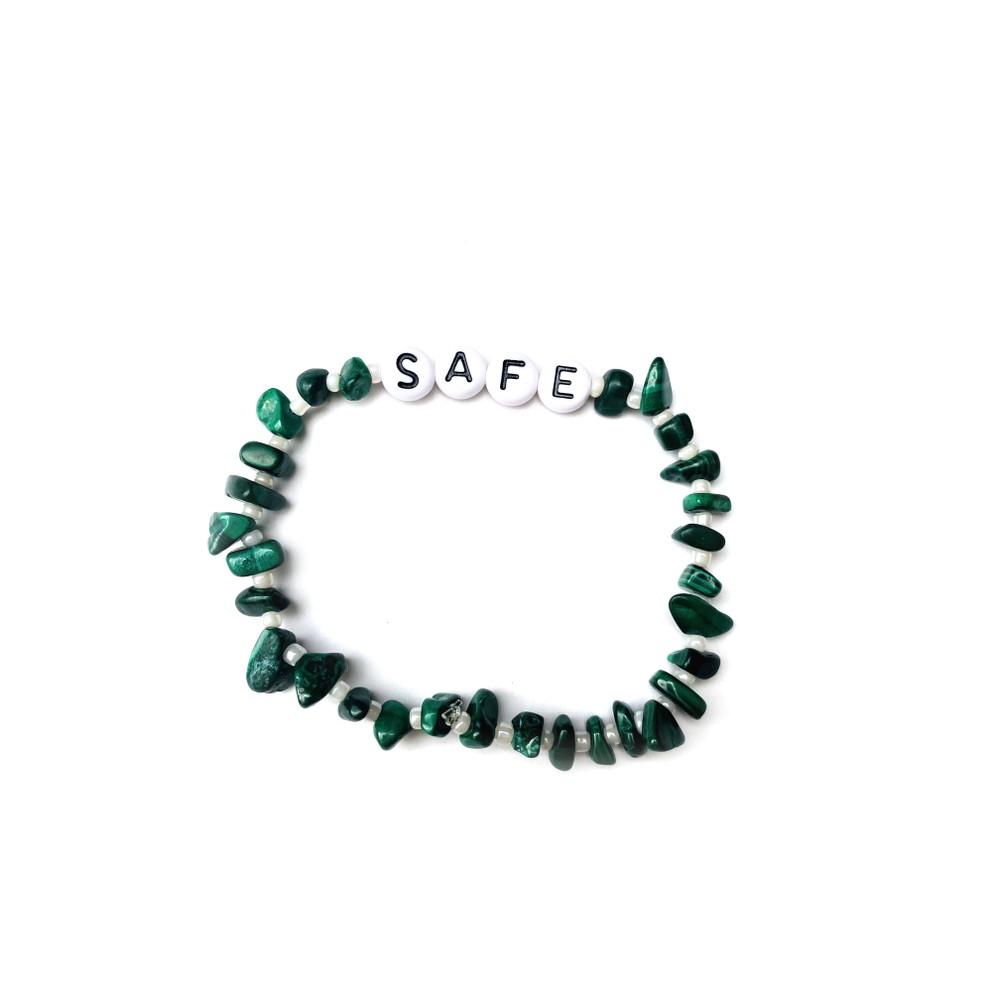 TBalance Safe, Crystal Healing Bracelet Green