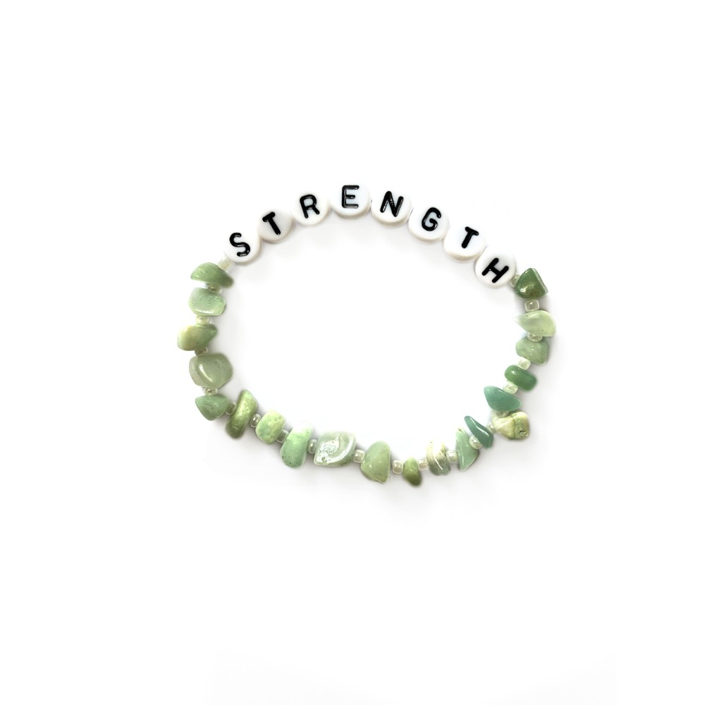 TBalance Strength, Crystal Healing Bracelet Green