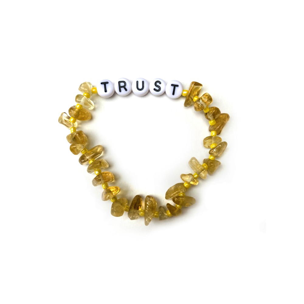 TBalance Trust Crystal Healing Bracelet Yellow