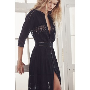 LoveShackFancy Beth Dress in Black - PRE ORDER ARRIVING MID JULY