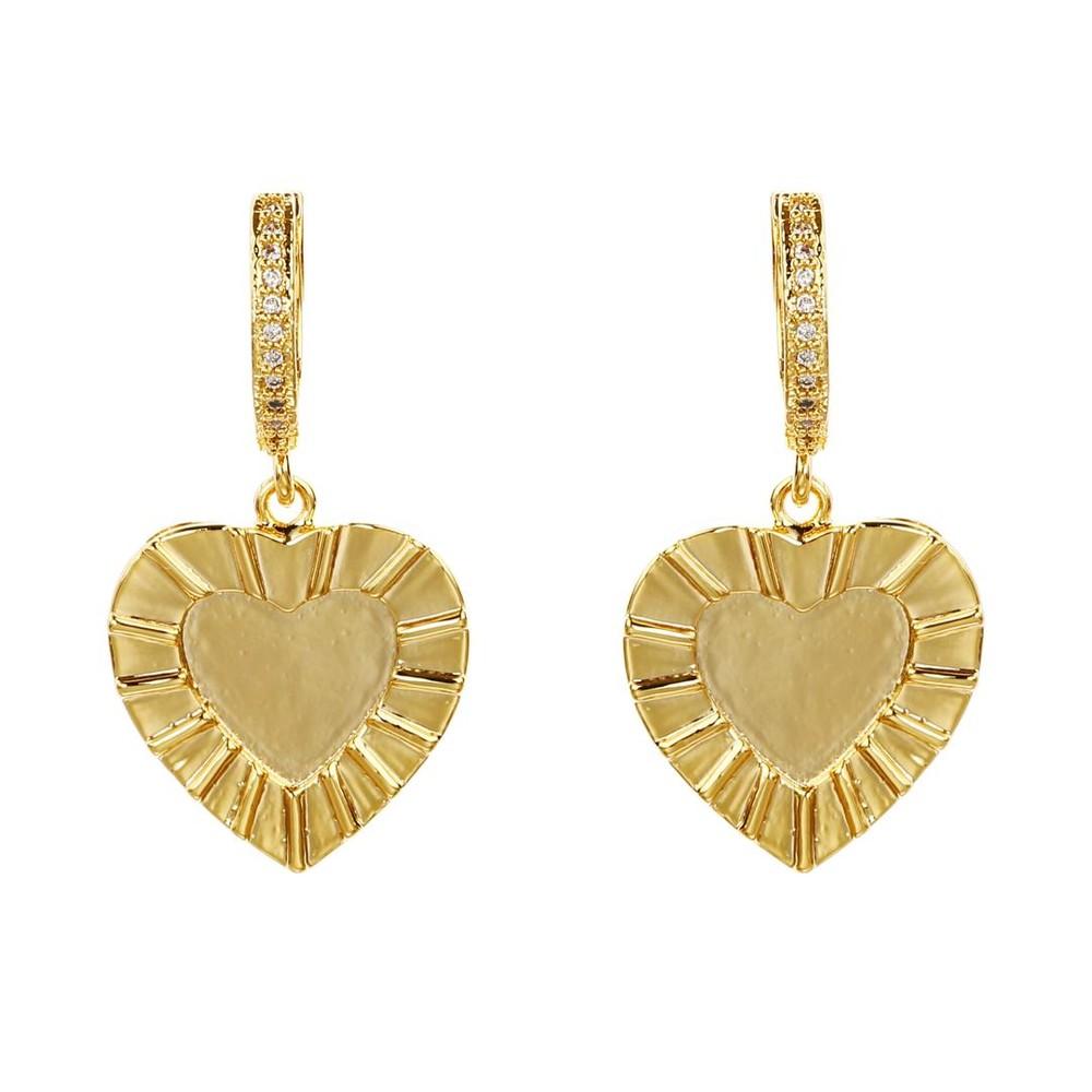 Celeste Starre Cupids Kiss Earrings Gold