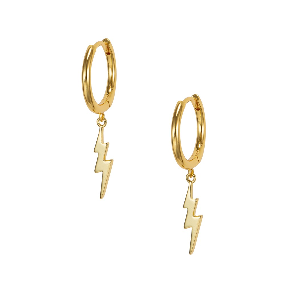 Celeste Starre Double Struck Earrings Gold