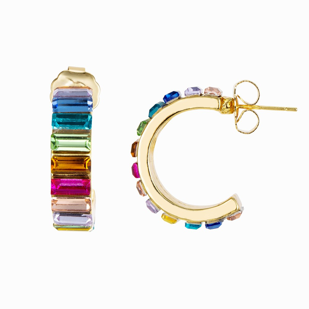Celeste Starre Follow The Rainbow Earrings Multicoloured