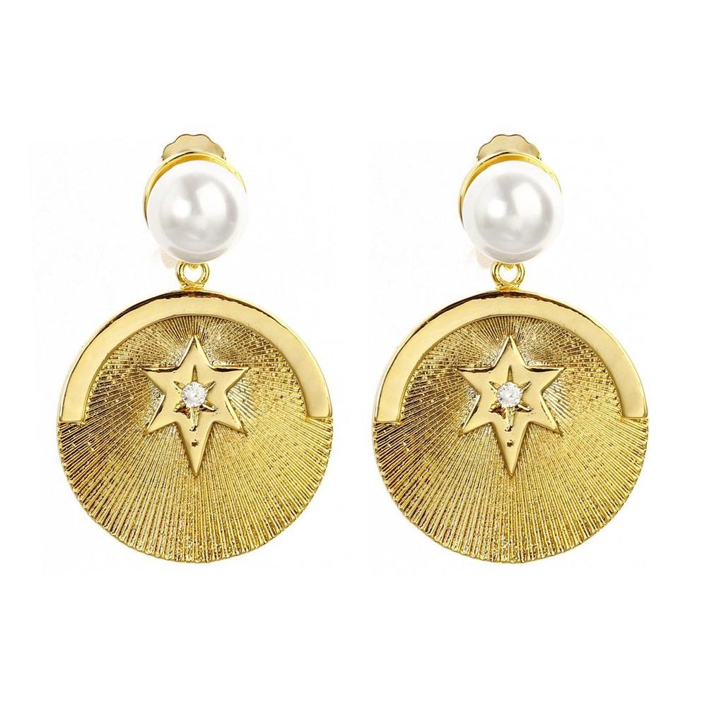 Celeste Starre Milky Way Earrings Gold