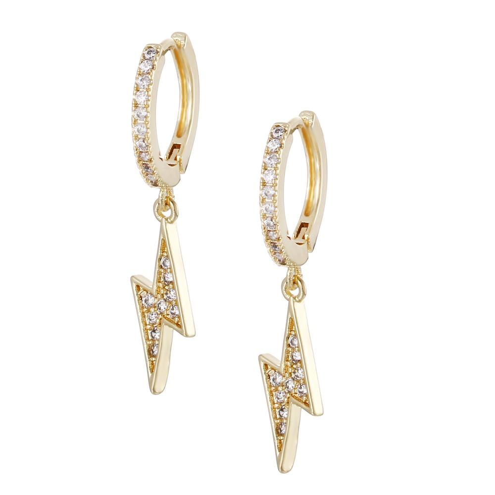 Celeste Starre Never Strikes Twice Earrings Gold