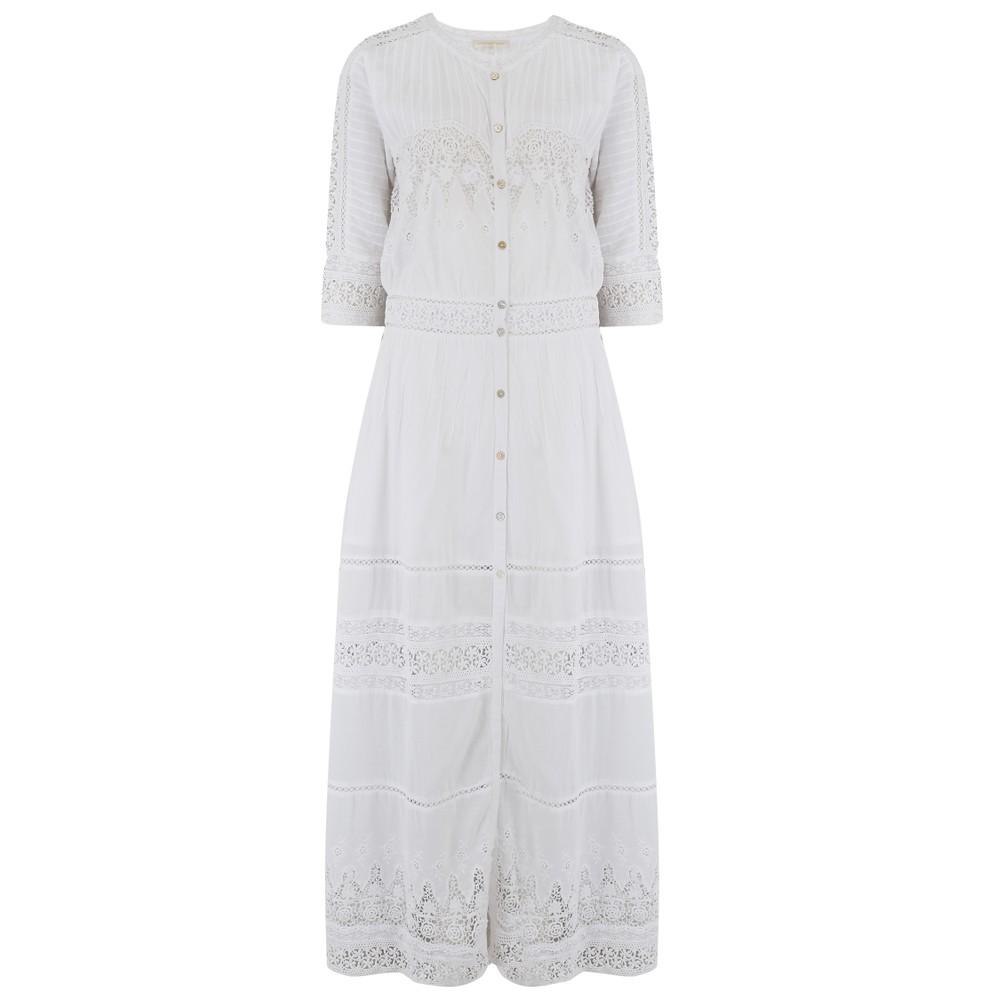 LoveShackFancy Beth Dress in White - PRE ORDER ARRIVING MID JULY White