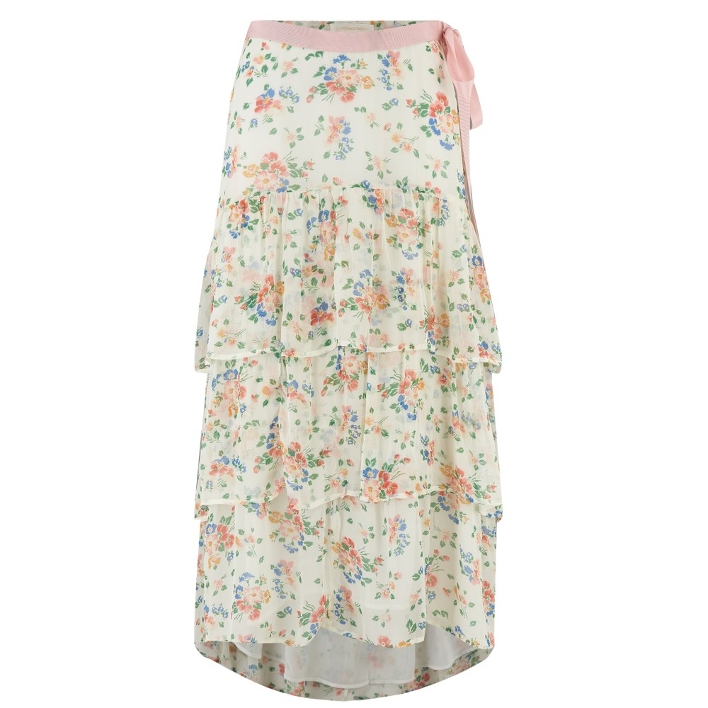 LoveShackFancy Adonis Skirt Multicoloured