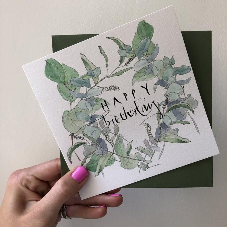 Edinburgh Letters Happy Birthday Greeting Card White