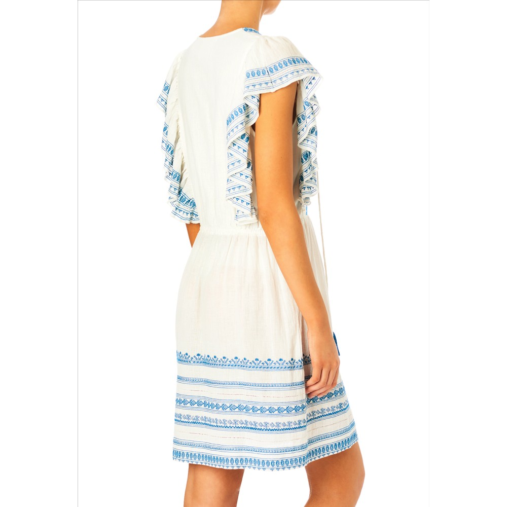 Mabe Allie Frill Dress White