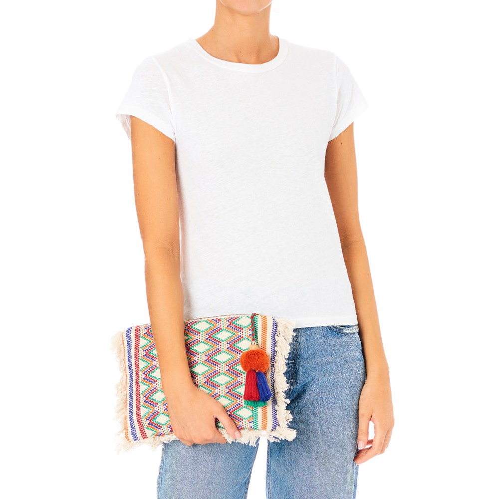 Mabe Cassia Clutch in Ecru/Multicoloured Multicoloured
