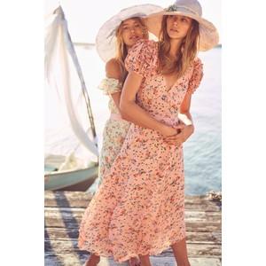 LoveShackFancy Clemence Dress in Sunset Pink