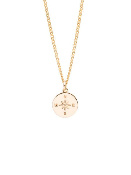 Tilly Sveaas Large Gold Compass Necklace Gold