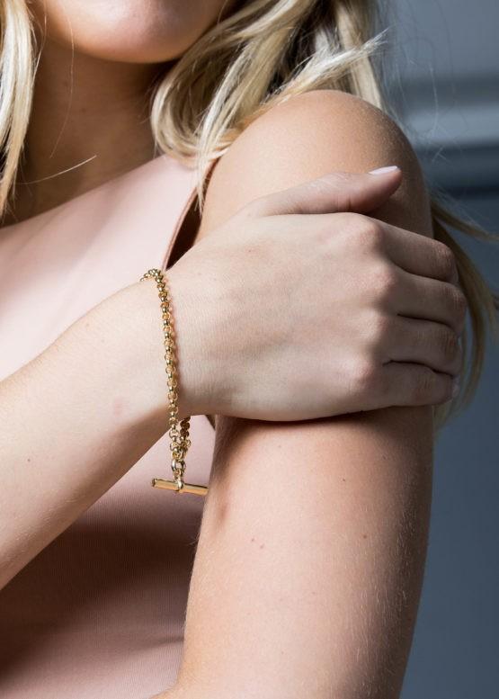 Tilly Sveaas Gold Belcher Compass Bracelet Gold