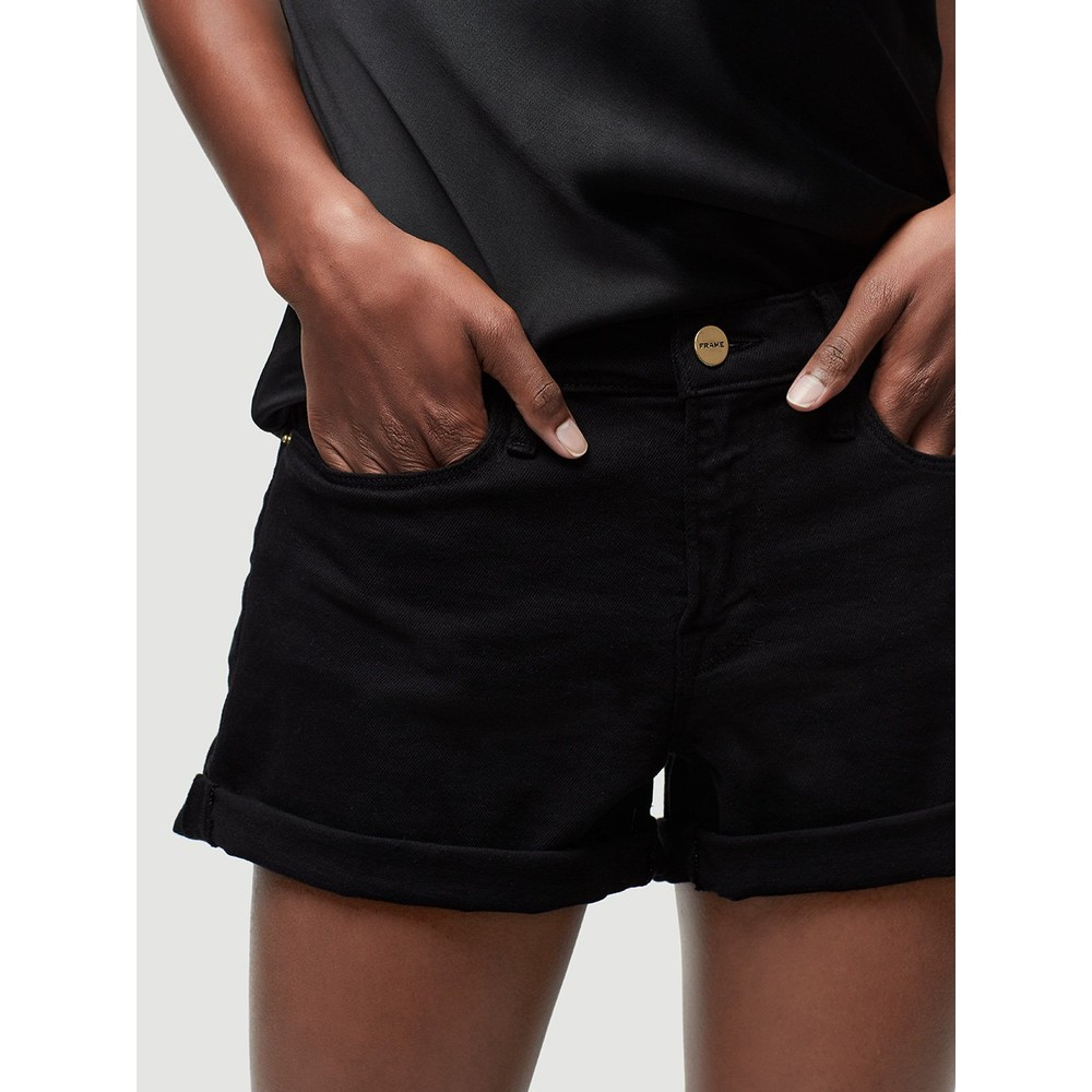 Frame Denim Le Cut Off Shorts Black