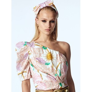 Hayley Menzies One Shoulder Luna Flora Blouse