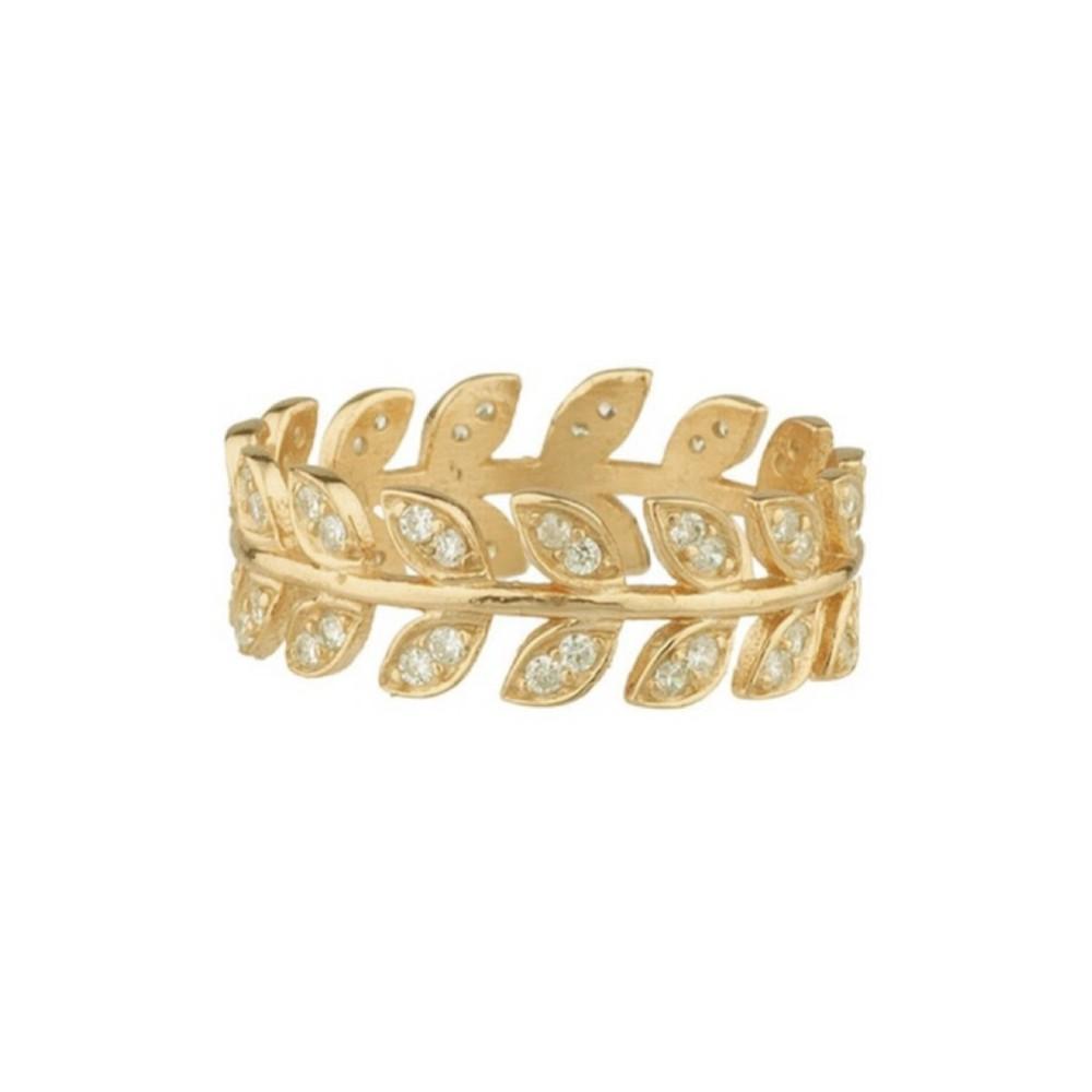 Shashi Amara Pave Ring in Gold Gold