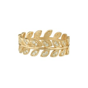 Shashi Amara Pave Ring in Gold
