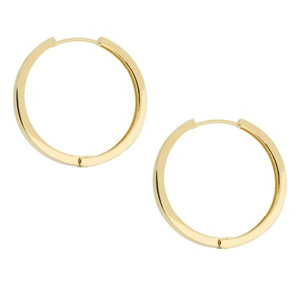 Shashi Timeless Hoops in Gold Gold