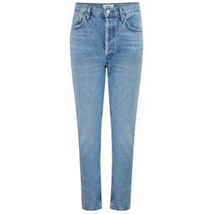 Agolde Riley High Rise Crop Jeans in Blur