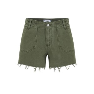 Paige Mayslie Utility Shorts in Vintage Ivy Green