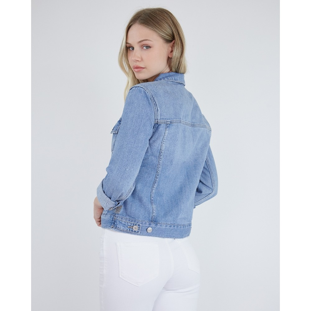 Paige Rowan Jacket in Lonestar Mid Denim