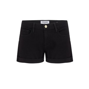 Frame Denim Le Cut Off Shorts in Black