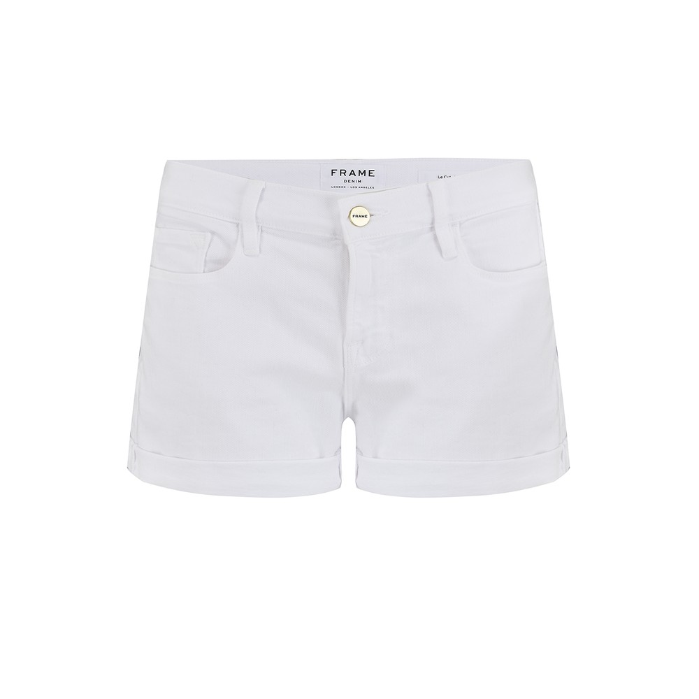 Frame Denim Le Cut Off Shorts White