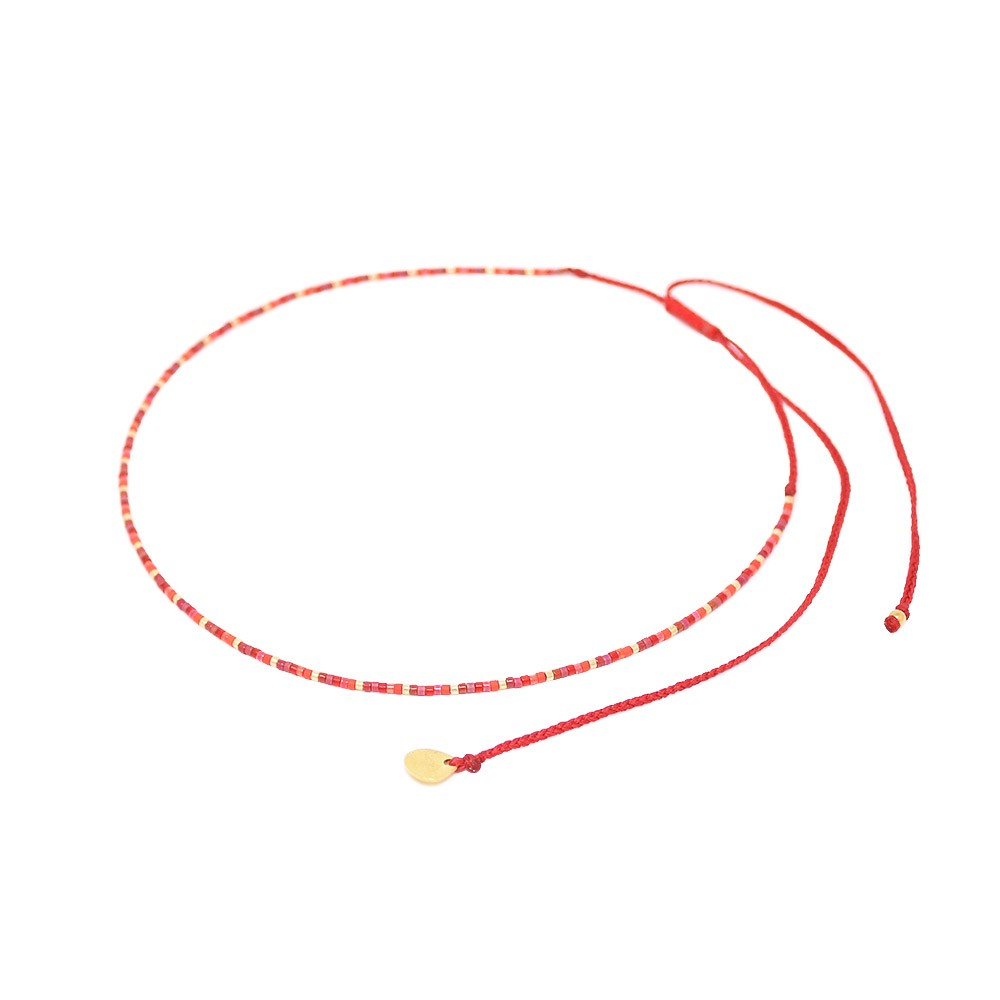Mishky Rainbow Red String Choker Red