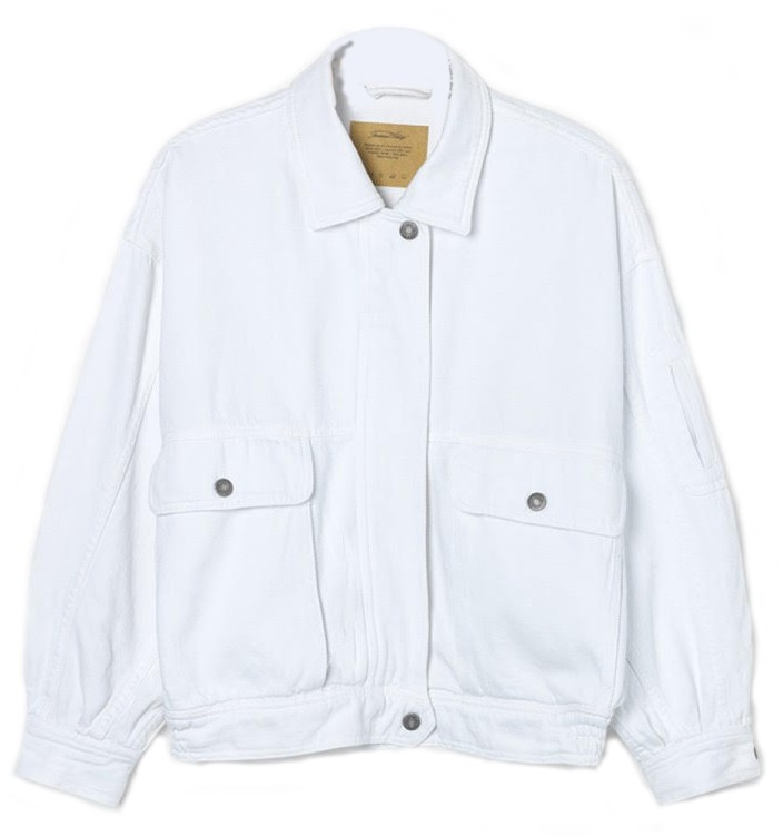 American Vintage Tine Jacket in White White