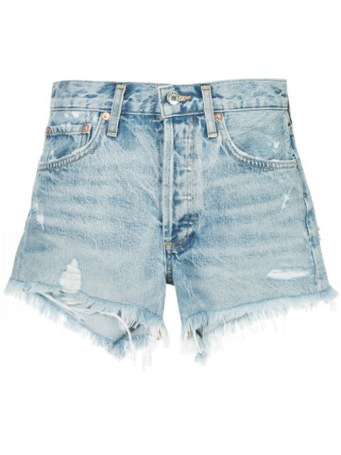 Agolde Parker Shorts in Swapmeet Light Denim